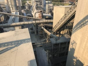 Large overhead view of factory